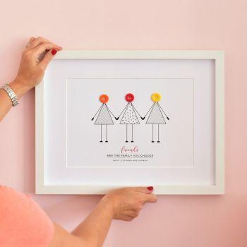 large personalised friendship print (unframed)