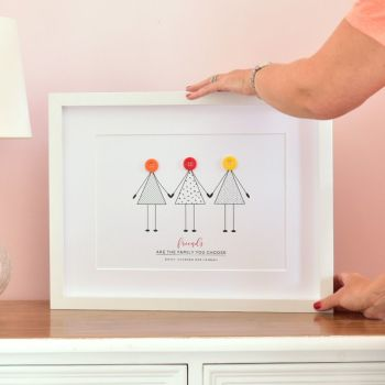 medium personalised friendship print (unframed)