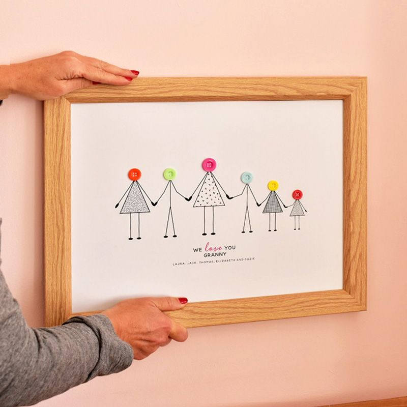 large personalised grandma print (unframed)