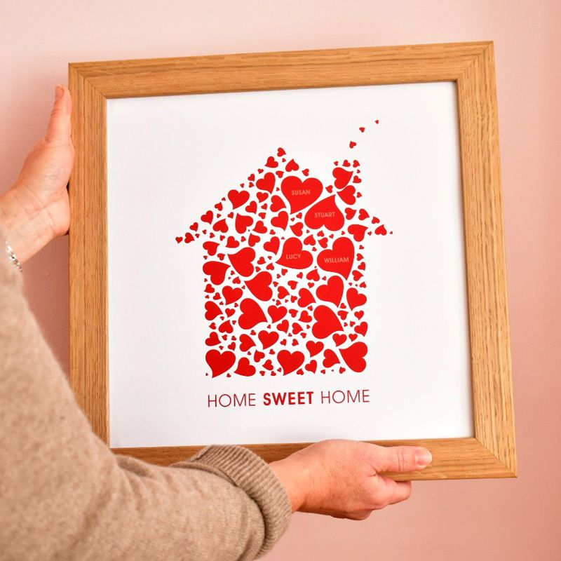 personalised home sweet home print (unframed)