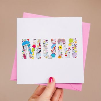 """mum's things"" card"