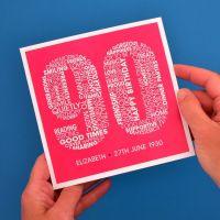 personalised 90th birthday card