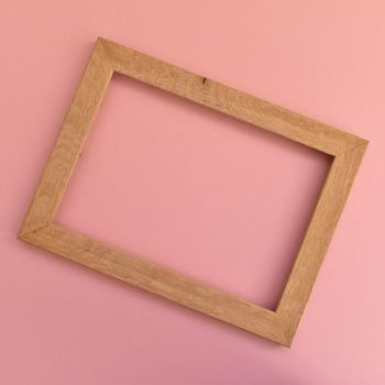 A4 chunky oak frame (flawed oak)