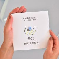 new baby button card