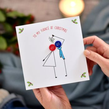 to my fiancé at christmas card