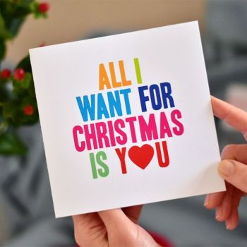 all i want for christmas is you christmas card