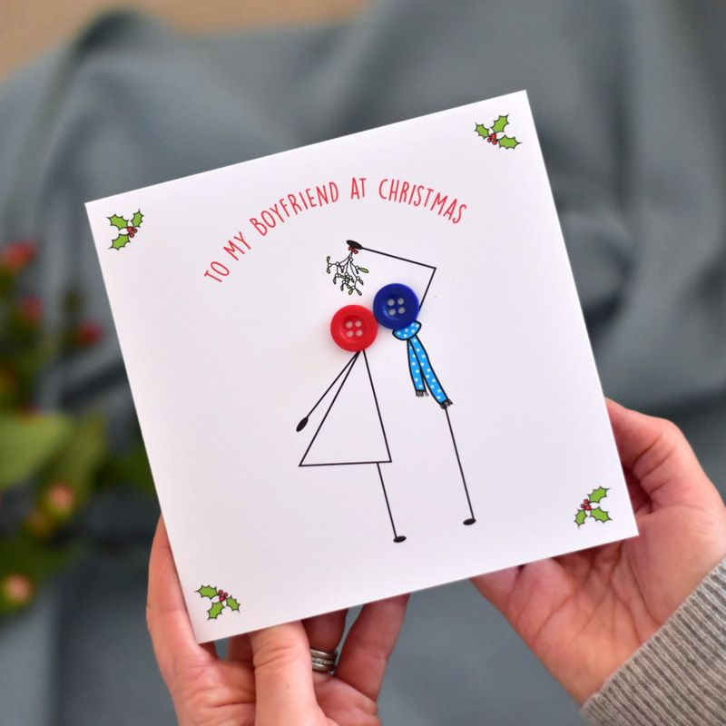 to my boyfriend at christmas card