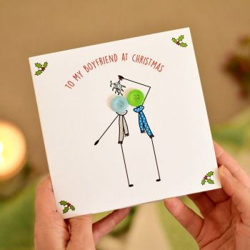 to my boyfriend at christmas card - 2 males