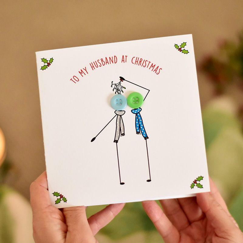 to my husband at christmas card - 2 males