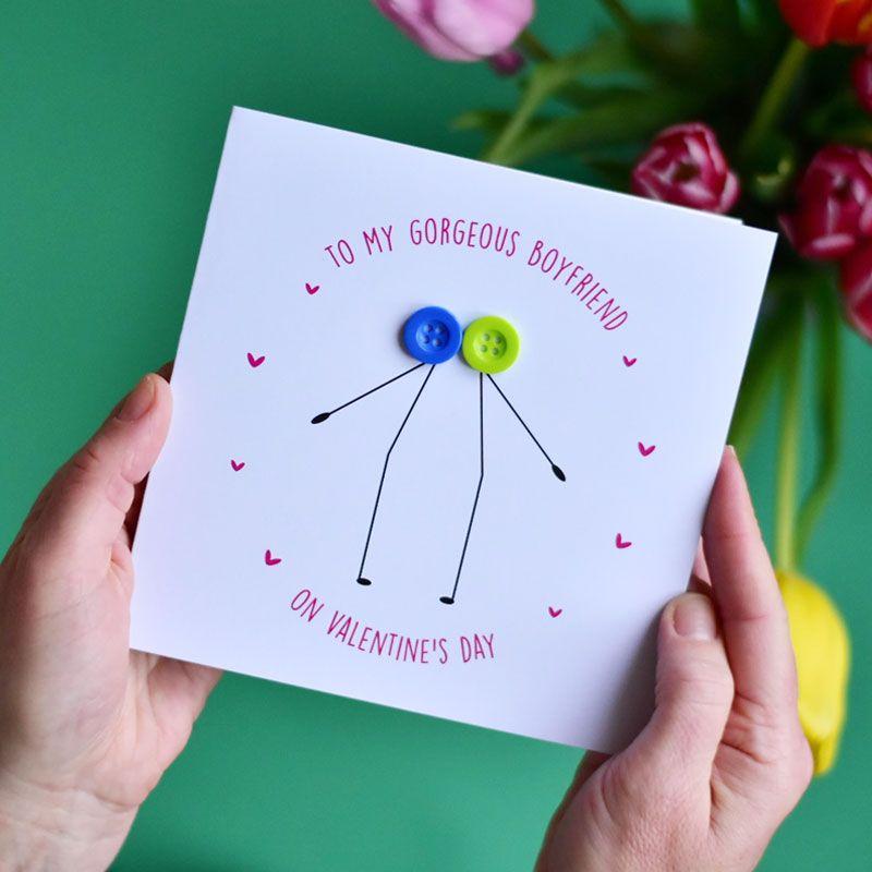 to my boyfriend Valentine's Day card two men