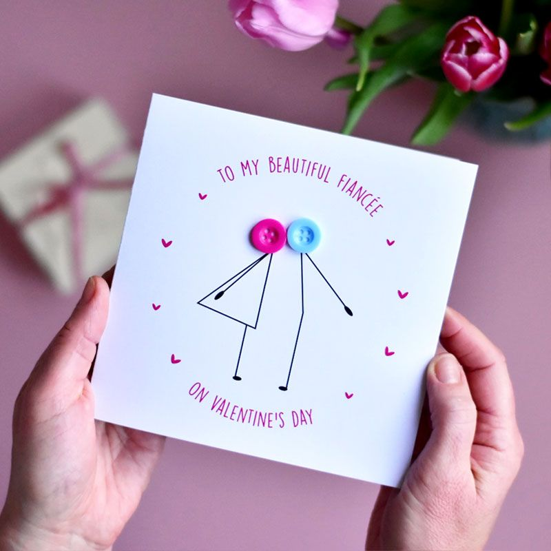 to my fiancée Valentine's Day card