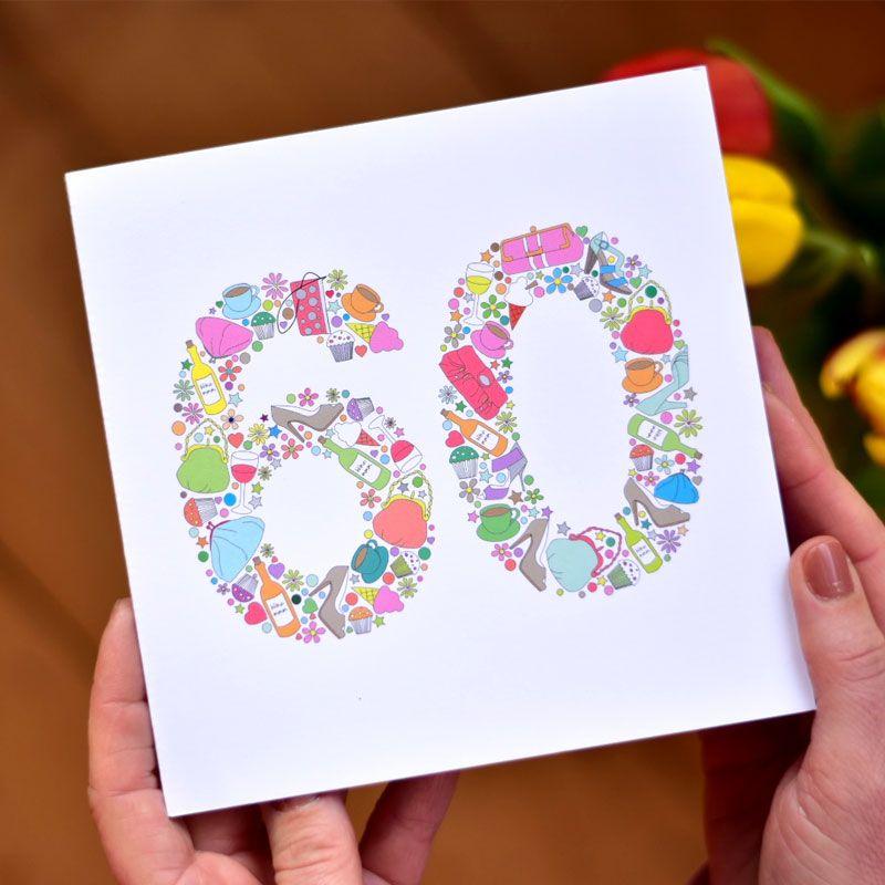 girlie things 60th birthday card