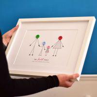 medium personalised family print (unframed)