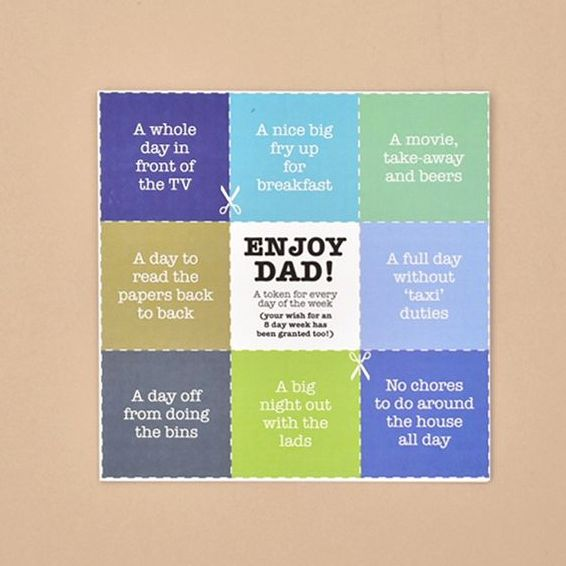 dads tokens card TRADE