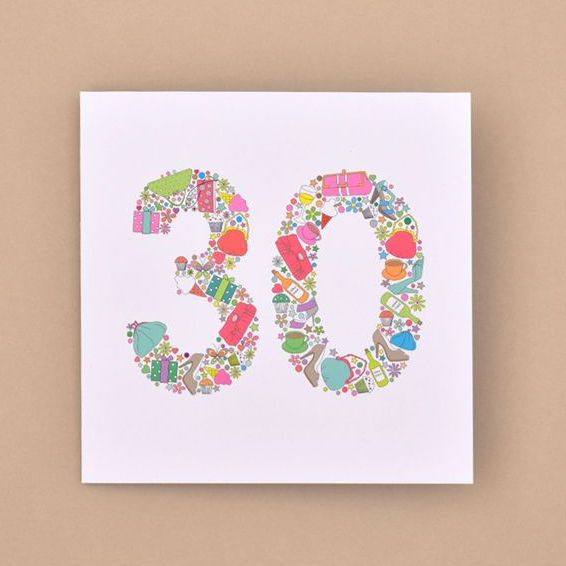 girlie things 30th birthday card TRADE