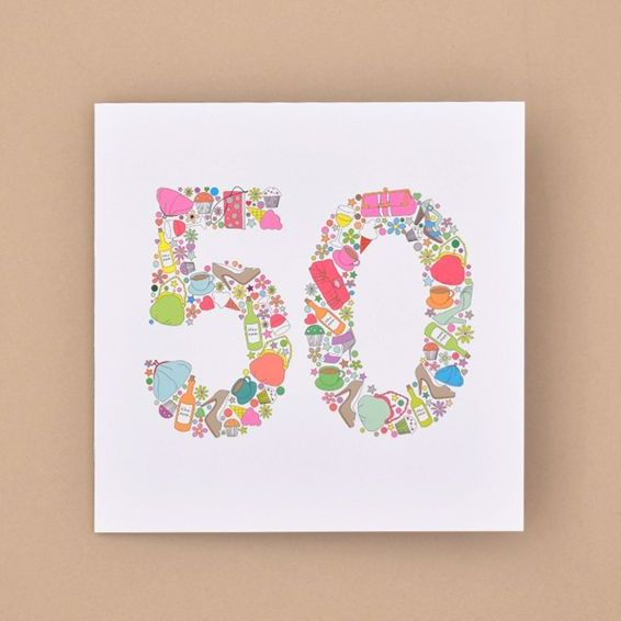 girlie things 50th birthday card TRADE
