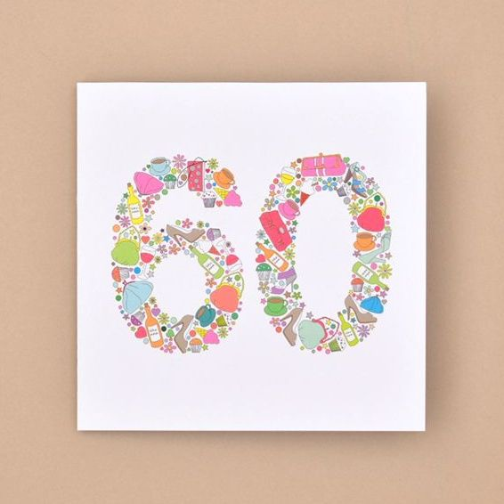 girlie things 60th birthday card TRADE