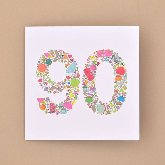 girlie things 90th birthday card TRADE