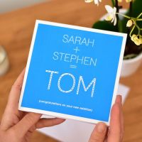 personalised new addition new baby card
