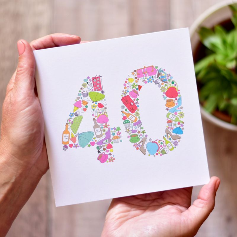 40th birthday card for female friends and family