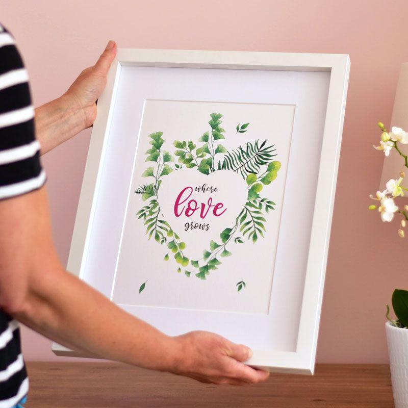 """where love grows"" print (unframed)"