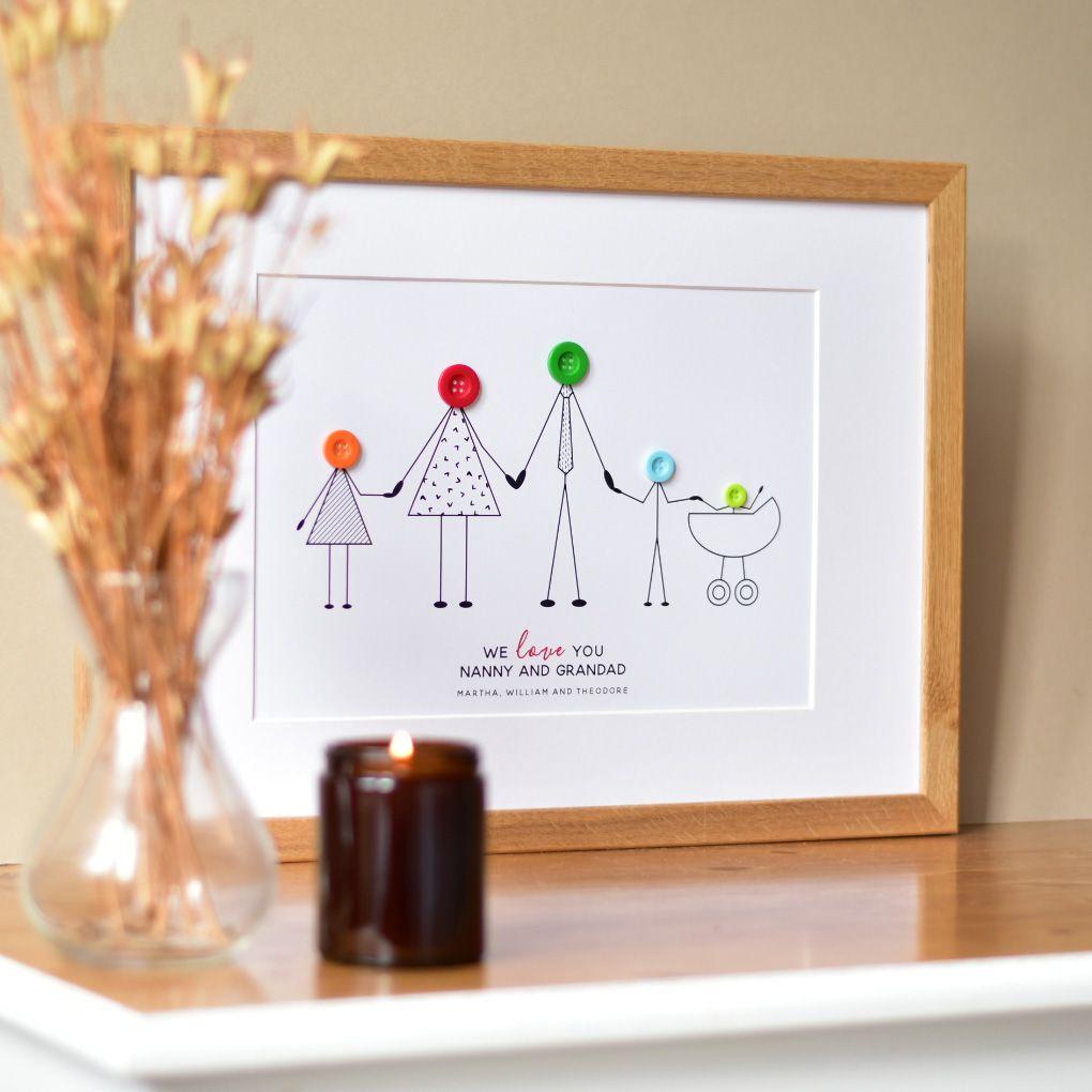 personalised grandparents and grandchildren print