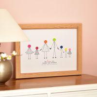 large personalised grandparents print (unframed)