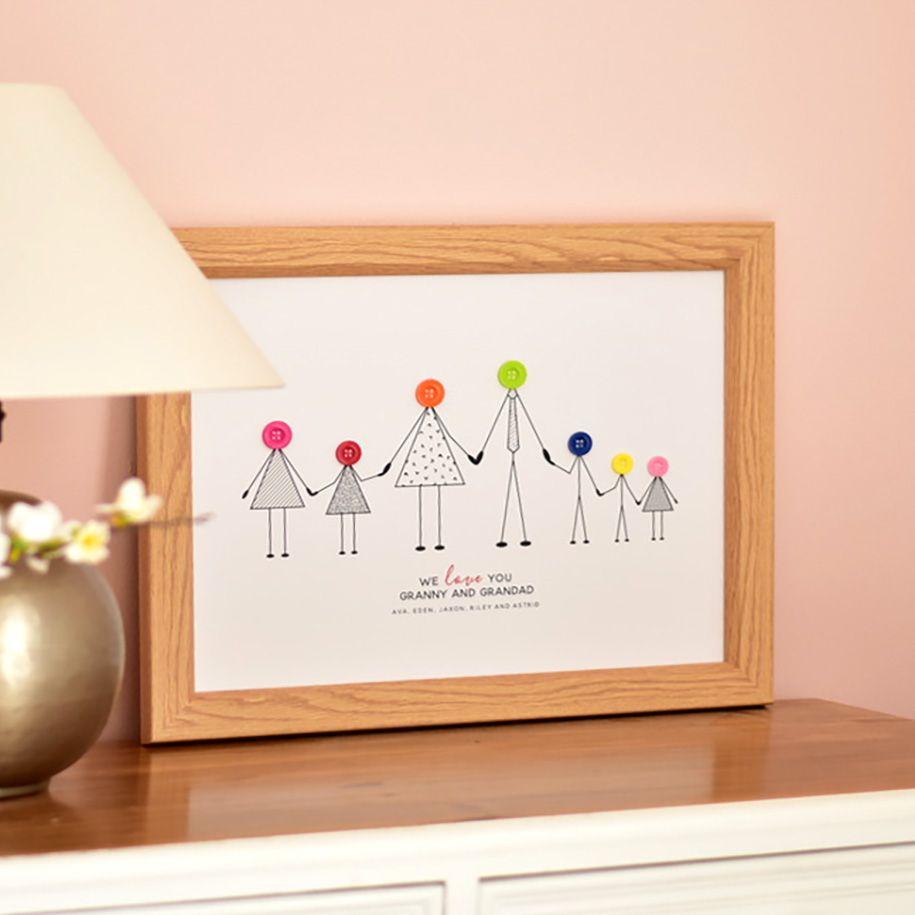 grandparents and grandchildren personalised print