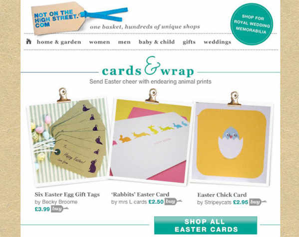 Where mrs l cards has been promoted not on the high street emailer easter nothseaster negle Gallery