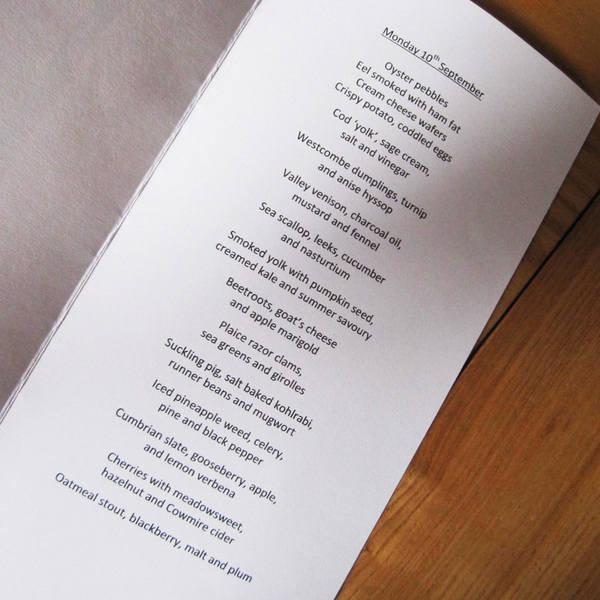 LEnclume menu
