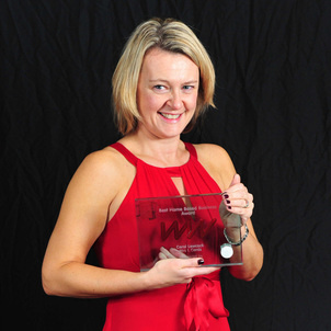 carol with award crop