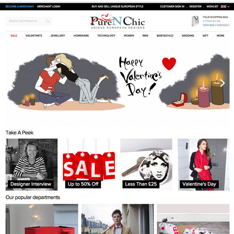 front page pure n chic