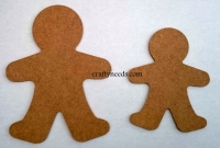 Ginger Bread men - 14 cm or 10.5 cm - Made from 3mm MDF