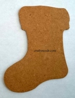 Stocking made from 3mm MDF. Approx measurements - Height 12cm, Width 9cm