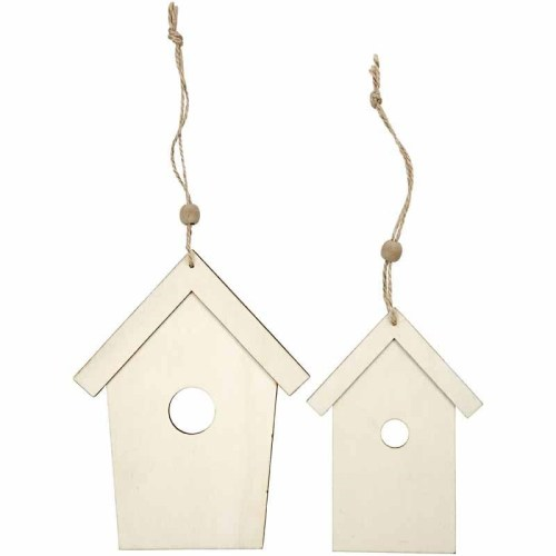 Bird houses. 2 Sizes 13+17,5 cm, thickness 5 mm