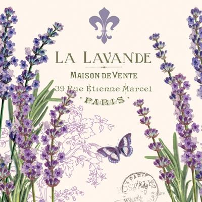 La Lavande napkins. 25 cm x 25 cm
