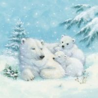 Polar Bears Napkin - 32505120