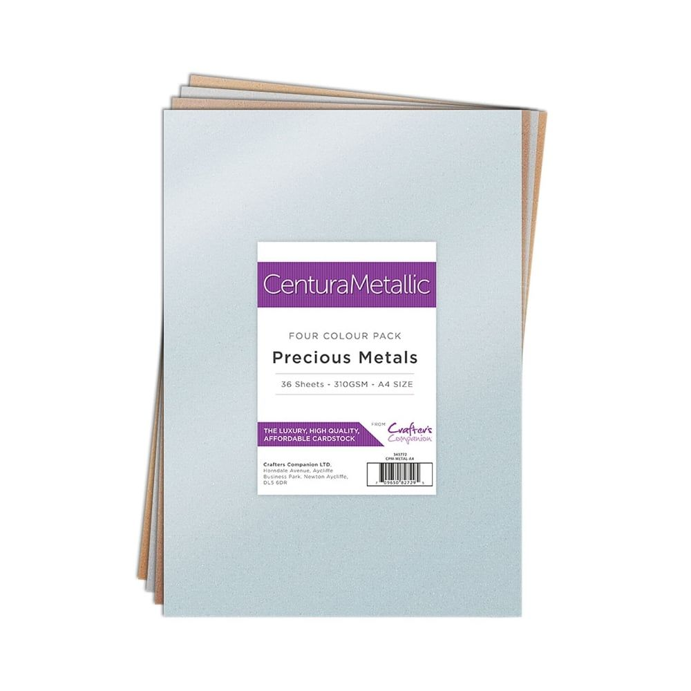 Crafter's Companion Centura Metallic 36 Sheet Pack - Precious Metals