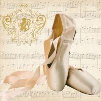 Concerto Ballet Napkin - 25 cm x 25 cm