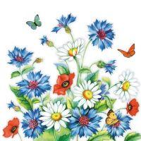 Cornflower napkin - 25 cm x 25 cm