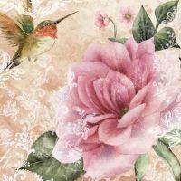 Hummingbird - Beige - 33 cm x 33 cm