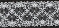 Lace: White Nylon Corded per metre. 45 mm wide