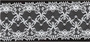 Lace: White Nylon Corded per metre.