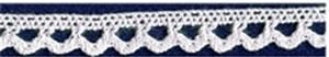 Lace - White Cotton 10mm. per metre