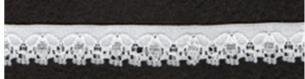 Lace - White Nylon Stretch 11mm wide. Price per Mtr.