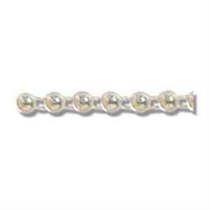 Pearl Beading: Flat Back:  4mm: Aurora. Price per metre