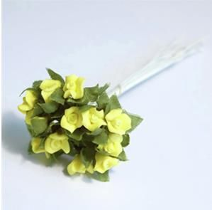 Mini Yellow Rose spray. Pack of 12. I flower per stem