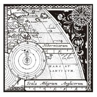 Map & Compass woodware stamp