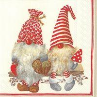 Friendly gnomes napkin - 33 x 33 cm