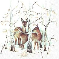 In the Winter Forest napkin - 33 x 33 cm